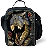 FUIBENG 3D Animal Thermal Lunch Bag Kid Cooler Box Food Container Meal Package 24x19x8CM Dinosaur-1