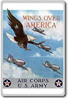 Air Corps Us Army, Wings Over America - Vintage War Aviation fridge magnet - ?????????