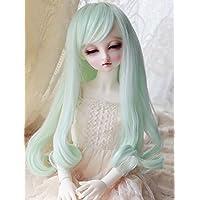 Linfairy 8~9inch 1/3 サイズ ドール用 ウィッグ フィギュア 人形用 ミントカラー テールカーリー