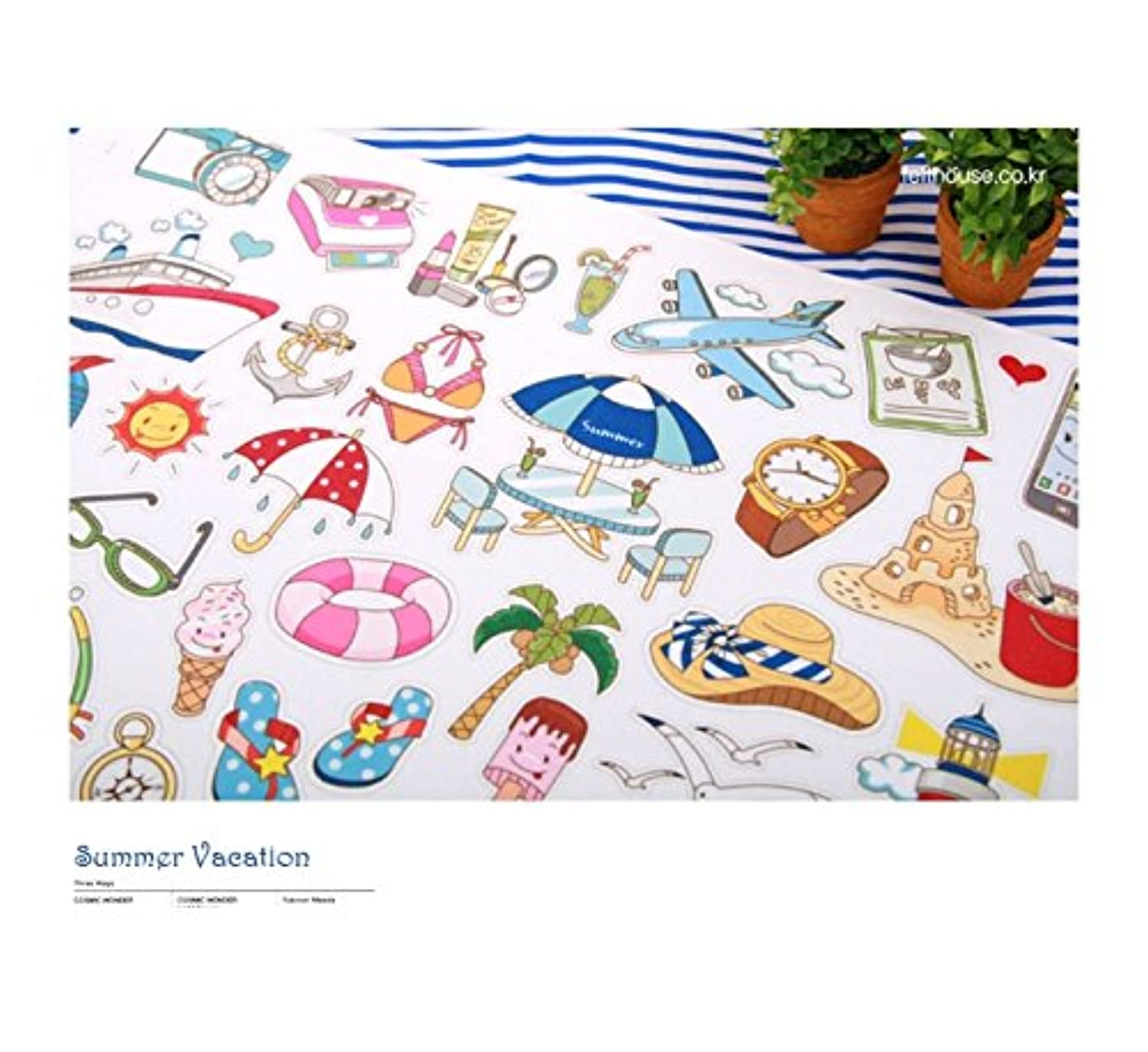 Korea Toy - Summer Vacation hard paper 801 color