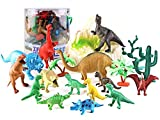 リアル 恐竜 フィギュア 子供 おもちゃ 13?32個 セット 古代 生物 爬虫類 人形 模型 玩具 ダイナソー ティラノサウルス ステゴザウルス トリケラトプス (19個セット)