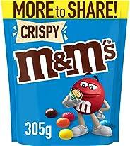 M&M's Crispy Chocolate, Large Bag (305g) (Packaging m