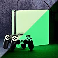 eXtremeRate Custom Glow in the Dark Console Controller Sticker Skin Decal Sets for PS4 Slim Playstation 4 Slim with 2 Light Bar Stickers [並行輸入品]