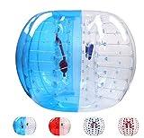 バブルサッカー直径5'(1.5m)人類ハムスタ一ボール、バブルボール、バンパーボール、ゾーブ、サイクルボール、循環ボール(青色と白色)