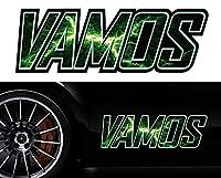 バモスvamosサイドステッカーmkss50/両サイドセット特大サイズ/かっこいい上質バイナルグラフィック/ワイルドスピード系デカール/限定