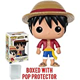 Funko Pop! Anime: One Piece - Monkey D. Luffy Vinyl Figure (Bundled with Pop Box Protector CASE)