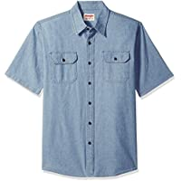Wrangler Authentics Men's Authentics Short Sleeve Classic Woven Shirt