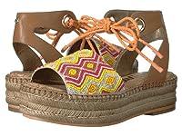(サムエデルマン)Sam Edelman レディースファッションサンダル・靴 Neera Saddle/Orange Multi Leather w/ Beading 10.5 27.5cm M [並行輸入品]