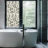 C COABALLA エチレンフィルム プリント デザイン ウィンドウフィルム 40歳の誕生日 デコレーション キッチン 寝室 リビングルーム 様式化されたフレーム レトロスタイル カラフルな紙吹雪 雨 水玉 24''x48'' CO_08_02_Q0404_001513