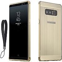 OURJOY Galaxy Note 8 バンパー ケース Note8 アルミ 製メタル バンパー カバー スタイリッシュ 耐衝撃 取付け簡単 ギャラクシーノート8 アルミ合金ケース ( Galaxy Note 8, ゴールド)