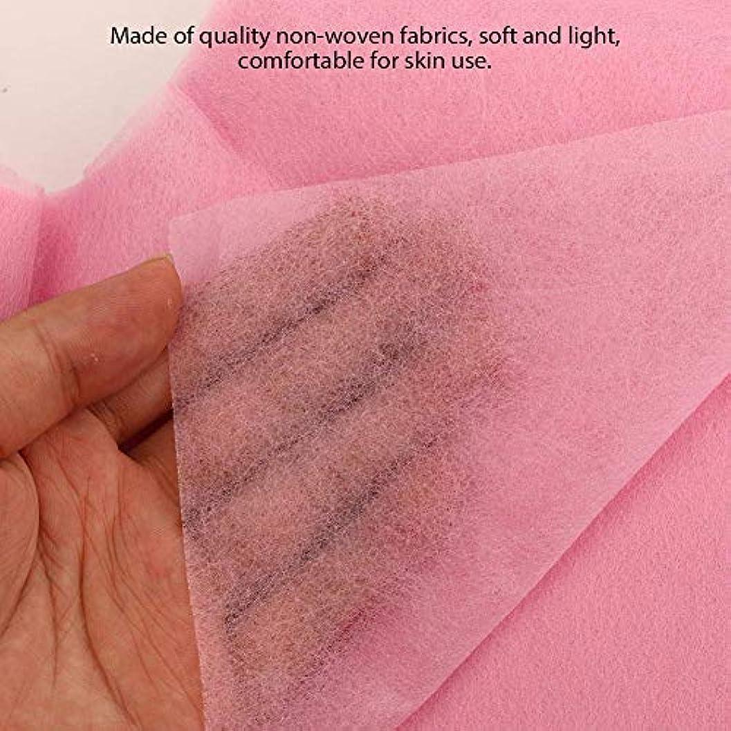 原因合図無許可使い捨て美容院のベッドの顔の穴カバー(ピンク)