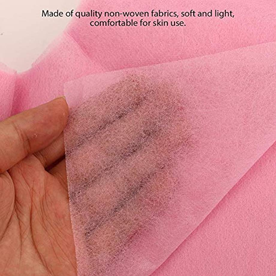 形成九月針使い捨て美容院のベッドの顔の穴カバー(ピンク)