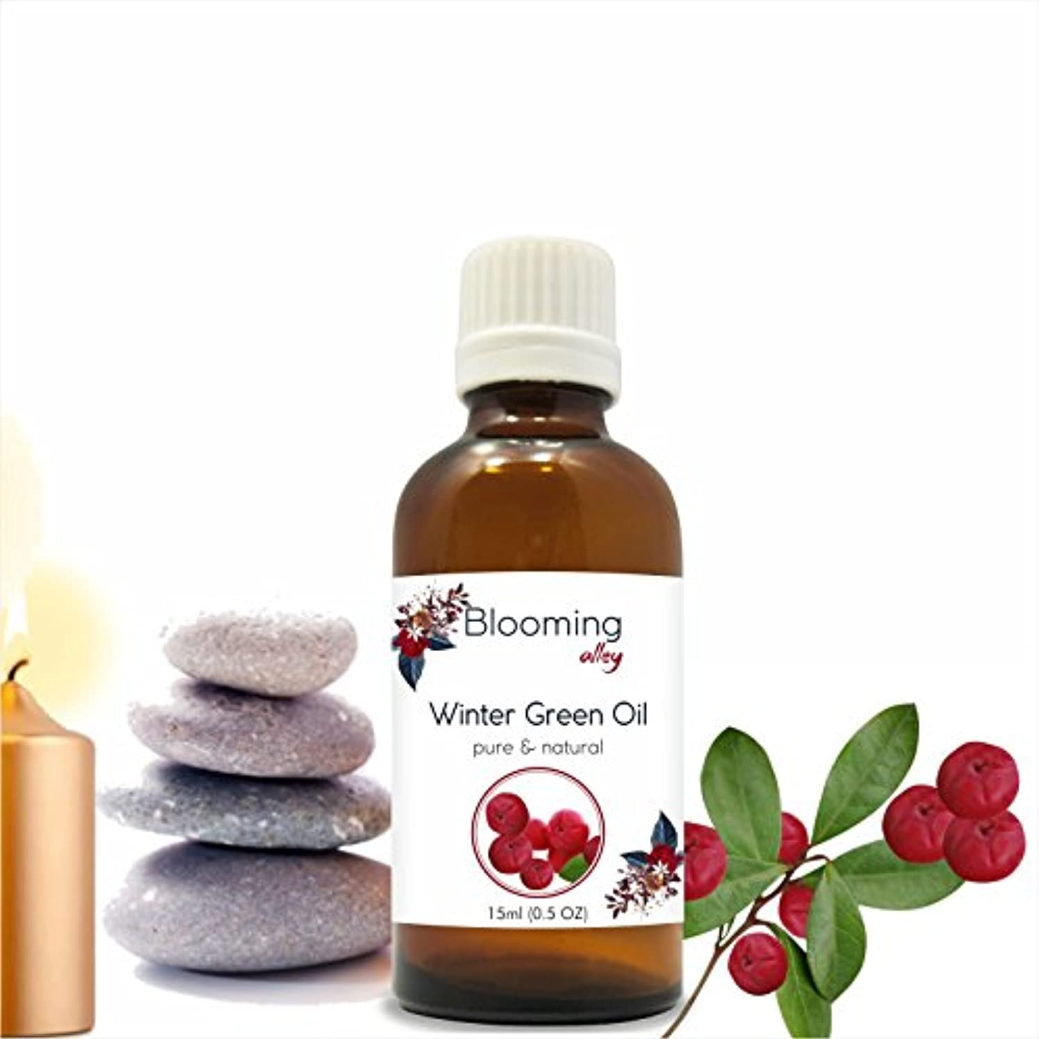 行き当たりばったりシャベルピルファーWintergreen Oil(Gaultheria Procumbens) Essential Oil 15 ml or .50 Fl Oz by Blooming Alley