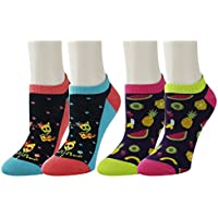 Women Girls Novelty Funny Cute Sloth No Show Ankle Socks Colorful Low Cut Cozy Animal Socks (2 pack-Series)