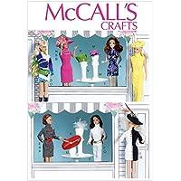 【McCall】バービーやジェニーなど 29cmドール用 6種類のドレスと7種類の帽子、帽子立てとテーブル等の型紙セット *7067