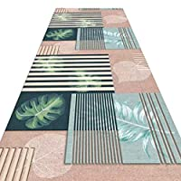 WUFENG 廊下敷きカーペッ 現代の 幾何学模様 廊下 滑り止め エリアカーペット リビングルーム 通路 エントランス、 複数のサイズ カスタマイズ可能 (色 : A, サイズ さいず : 0.6x2m)