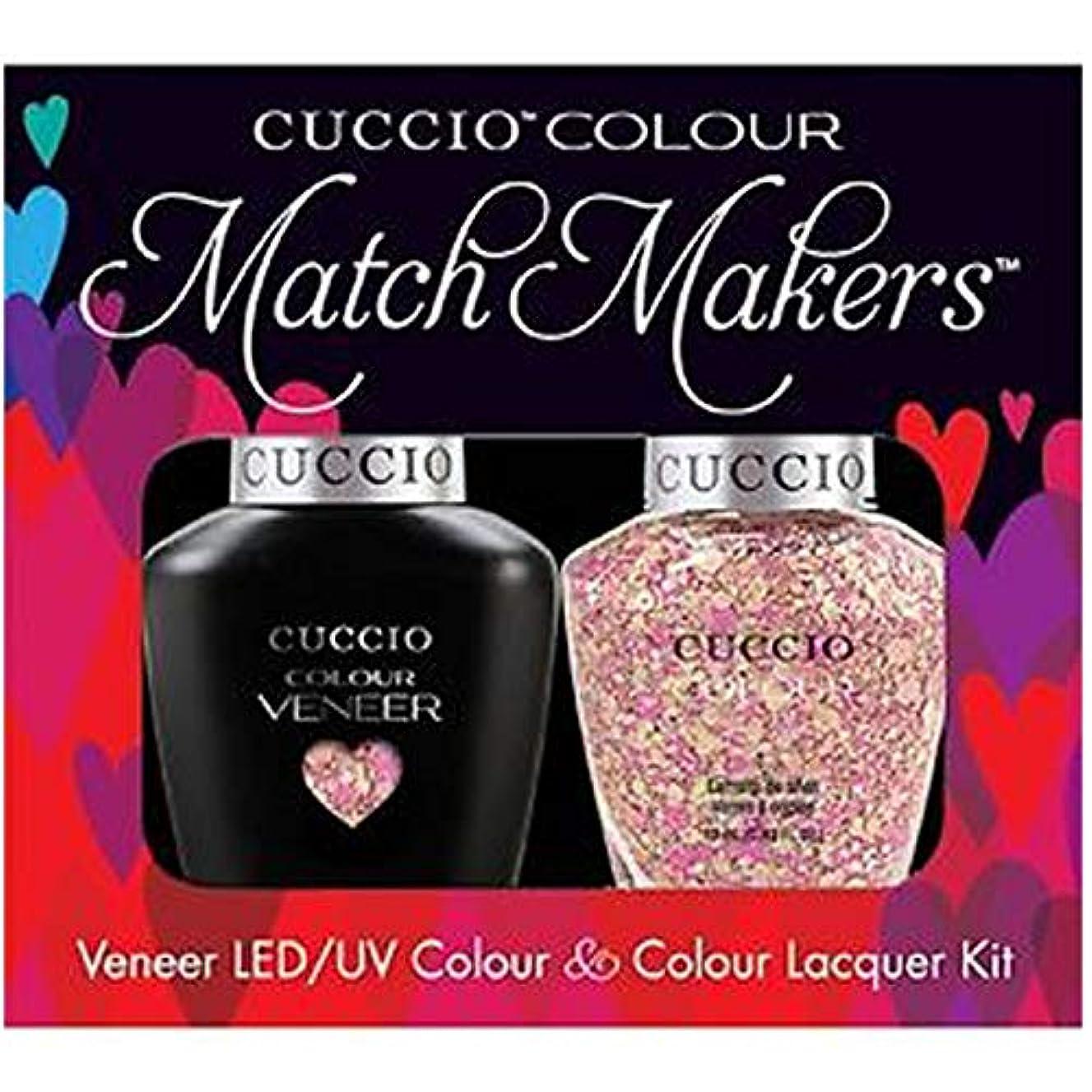 ポジティブ罪潤滑するCuccio MatchMakers Veneer & Lacquer - Mimes & Musicians - 0.43oz / 13ml Each