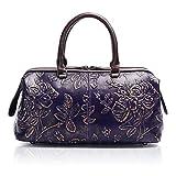 APHISON ハンドバッグ レディース 本革バッグ 大容量 手提げバッグ 牛革 花柄 通勤 上品バッグ ギフト 83300