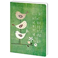 Tree-Free Greetings Who Matters Inspirational Soft Cover Journal 5.5 x 7.5 Inches 160 Lined Pages Gift for Bird Lovers Green (JR89945) [並行輸入品]