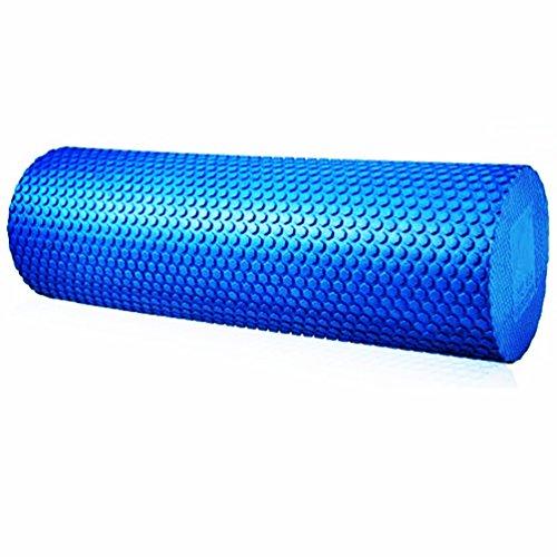 マッスル演習フォームローラートリガーポイントと筋膜マッサージ、物理療法、フィットネスプレミアム高密度Best for、ストレッチ、テンションリリース、ピラティス&ヨガ ブルー