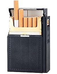 Fashionwu タバコケース USB充電式 加熱式 ライター付き シガレットケース 防風 焔なし 20本収納可 大人 プレゼント