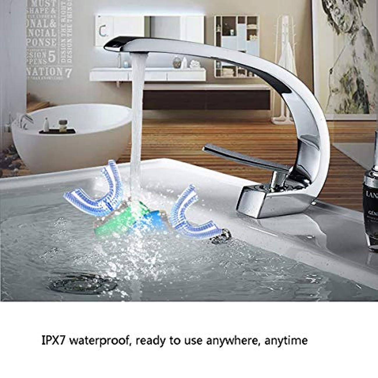 コピーハシー荒野超音波電動歯ブラシ、自動歯ブラシ防水美容歯クリーナー、すぐに歯をきれいにすることができる充電式歯ブラシ,グリーン