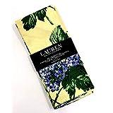 ラルフローレン 春/夏 青紫陽花 イエローナプキン   20インチ x 20インチ / 4枚セット   100%コットン