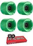 60?mm OJ Wheels Hot JuiceスケートボードWheels with Bones Bearings???8?mmスケートボードベアリングBones Super Redsスケート定格???2アイテムのバンドル