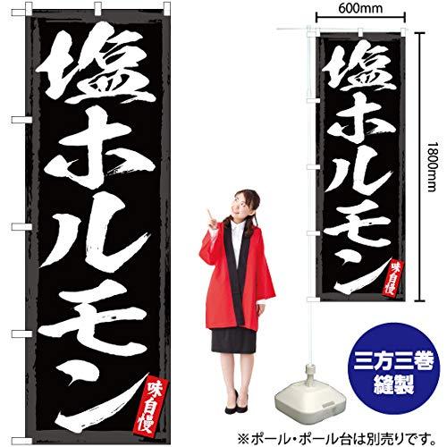 のぼり旗 塩ホルモン YN-2967(三巻縫製 補強済み)(宅配便)