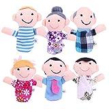 (ゼイゲウィン) Zigwin ベビー用品 赤ちゃん おもちゃ 6体 指人形セット 家族 縫いぐるみ 教育ハンドトイ 布の人形 フィンガー 【並行輸入品】