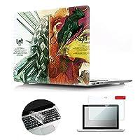 Se7enline 3in 1 MacBook Pro 13 インチ ハードケース2009-2012年 旧型、日本語キーボードカバー(JIS配列)対応モデル:[A1278]、保護フィルム(左右脳 1)