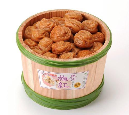 JA紀州 南高梅 梅紅(はちみつ漬) 1.5�s 木樽入り 塩分約9%