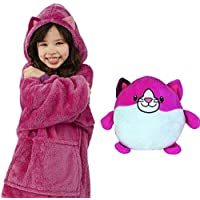 Heyean Huggle Pets Dinosaur Animal Hoodie Warm and Cozy Long Sleeve Soft One Size Sweatshirt Blanket, Hoodie for Children Kids Winter Outdoor