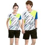 (チーアン)Tiann 卓球ユニフォーム   卓球 ユニフォーム パンツ 卓球 ユニフォーム シャツ 世界チャンピオン愛用モデル 大人気の卓球ユニフォーム 上下セット 女 white M