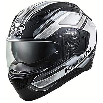 オージーケーカブト(OGK KABUTO)バイクヘルメット フルフェイス KAMUI3 ACCEL(アクセル) フラットブラックホワイト (サイズ:XS) 585761