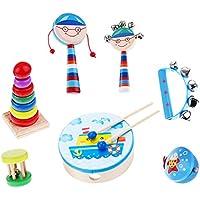 Kesoto 全7種類 楽器 おもちゃ ことも玩具 ウッド音楽玩具 - ボーイ7個-2