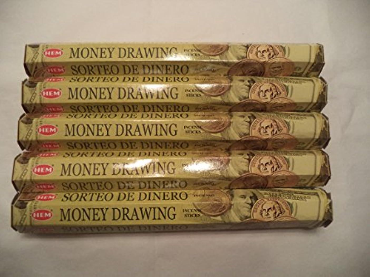 シーボード文字ボトル裾Money Drawing 100 Incense Sticks (5 x 20スティックパック)