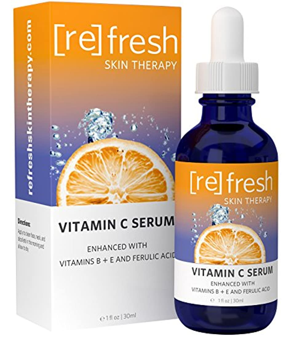 無秩序アルコール情緒的肌をリフレッシュ - 最高のビタミンC、B、Eフェルラとヒアルロン酸フェイシャルセラム - 完璧で、水分のある肌のための臨床強度20%のビタミンC!