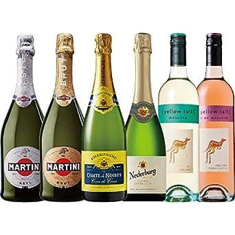 【4カ国の甘口~辛口バラエティ泡セット】シャンパン入りスパークリングワイン飲み比べ 6本セット フランス イタリア オーストラリア アルゼンチン [ スパークリング 辛口 750mlx6本 ]