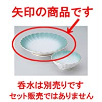 天皿 ヒスイ吹菊形天皿 [ 21 x 4.5cm ] 【 料亭 旅館 和食器 飲食店 業務用 】