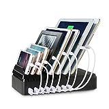 MixMart 8台同時 8ポートUSB充電ステーション 多功能 デスクトップ充電スタンド iPhones / iPads / Nexus / Galaxy /タブレットPC スマートフォンなど充電対応(黒)