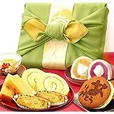 誕生日 の プレゼント 人気商品 おいもや どら焼き お菓子 食べ物 お祝いギフト ギフトセット(みどり色風呂敷包)