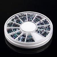 300ピース3D宝石クリスタルネイルアートステッカーのヒントクリスタルグリッターラインストーンDIYの装飾マニキュア+ホイールターンテーブル
