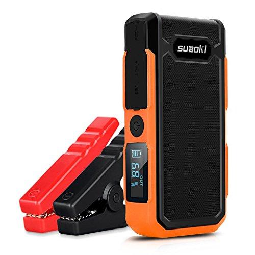 suaoki U10 ジャンプスターター モバイルバッテリー 20000mAh大容量 12V車 逆接続保護 コンパス搭載 防塵 防滴設計 スマホ タブレットなどへの充電 LEDライト オレンジ