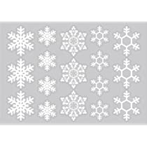クリスマス用・冬期用 シルエットシール(吸着フィルム) 絵柄:雪の結晶 窓ガラス・鏡・家具などにも気軽に貼れる!
