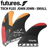 ショートボード用フィン FUTURES. FIN フューチャーフィン TECH FLEX JOHN JOHN SMALL テックフレックス ジョンジョン スモール トライフィン 3フィン