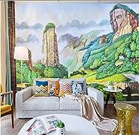 Lcymt Hd大山絵画背景壁画城緑カスタム壁紙壁画装飾-150X120Cm