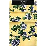 ラルフローレン 春/夏 青紫陽花 黄色テーブルランナーに咲き乱れる花   15インチ×72インチ   綿100%