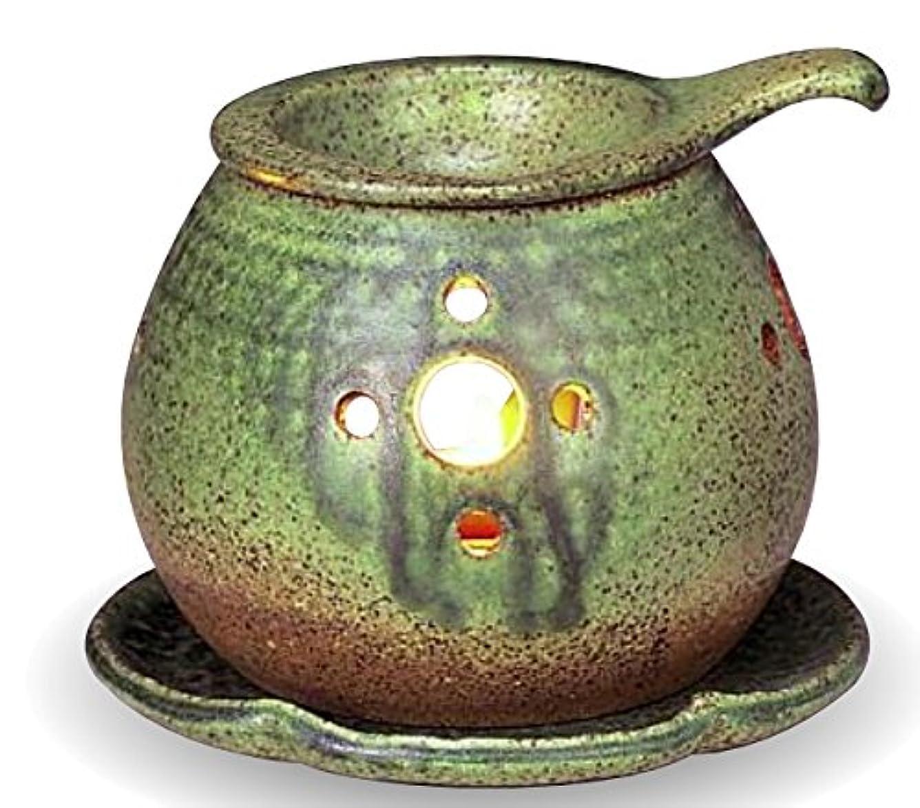 副粘土狂った常滑焼 茶香炉(アロマポット)径11×高さ9.5cm