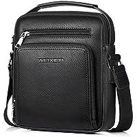Shoulder Bag PU Leather Business Crossbody Bag Retro Leather Men's Briefcase Business Bag Compound Casual Shoulder Bag Men's Leather Crossbody Shoulder Bag